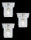 Paulmann Halogen Einbauleuchten-Set Quality Line Glassy Cube Quality Line 3x10W 12V  920.18 - 92018