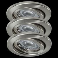 NICE PRICE 3322 LED 3x3,5W Einbauleuchten Eisen...