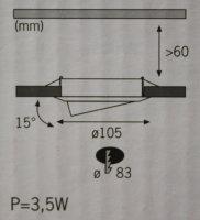 Nice Price 930.04 LED Einbauleuchten 3 X 0,8W Weiß Spots Strahler RUND 93004
