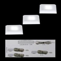 Nice Price 3er LED Einbauleuchten-Set 3629 12VA, IP44...