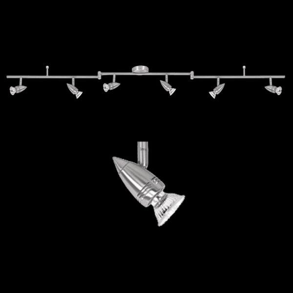 Nice Price 6er Spot Deckenlampe 6x50W 3656 Halogen-Schienensystem