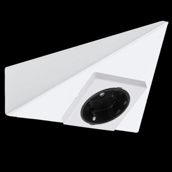 Paulmann Micro Line Möbelsteckdose dreieckig Küche Steckdose Unterbausteckdose 985.23 - 98523